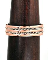 Artisan Woven and Braided Copper Cuff Bracelet from Taxco Mexico