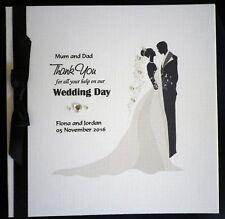 Personalised WEDDING THANK YOU Card ~ MUM & DAD Best Man BRIDESMAID Free UK P&P