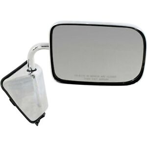 New Manual Mirror Chrome Right For Dodge D150 1988-1993 CH1321272 2-Door