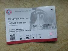 Sammler Used Ticket FC Bayern München vs TSG Hoffenheim 1.Bundesliga 18/19 FCB