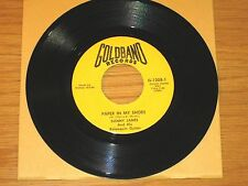 """BLUES 45 RPM - DANNY JAMES - GOLDBAND 1208 """"PAPER IN MY SHOES/BOOGIE IN THE MUD"""""""