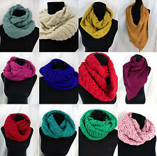 US SELLER-lot of 10 winter fall eternity scarf wholesale knit infinity scarf