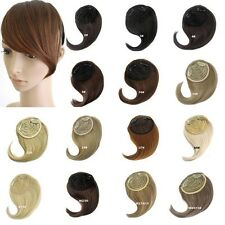 Clip In Hair Extension Women Straight Side Bangs Fringe Hair Piece Wig FREE POST