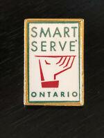 Vintage Collectible Smart Serve Ontario Colorful Metal Pinback Lapel Pin