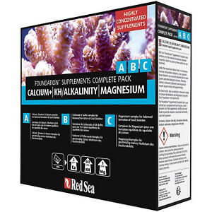 Red Sea Reef Foundation ABC 3x 250mL Complete Reef Supplement Free USA Shipping
