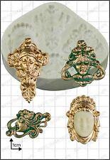 Silicona Molde Art Nouveau Caras | uso alimentario FPC Sugarcraft Envío Reino Unido!