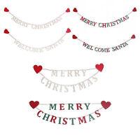 Wooden Christmas Garland Chain Merry Christmas/ Welcome Santa Dec, Sass & Belle