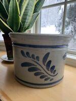 Westerwald Cobalt Blue Stoneware Crock 1989