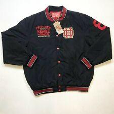 Hawke & Dumar MEN S 2XL 1 of 1 Rare Varsity  Botton Down Coat Jacket Black Nice