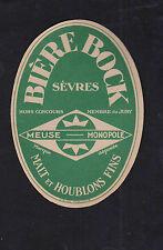Ancienne étiquette Alcool Bière France BN8227 Meuse Monopole