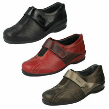 Ladies Red/Burgundy Black/Patent Riptape Sandpiper Leather Shoes Windsor