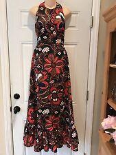 Sandine  Originals 1970's Maxi Dress Hostess Gown Summer Dress 2/4 XS