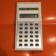 SHARP ELSI MATE calculator EL-214 Taschenrechner 80er Digital
