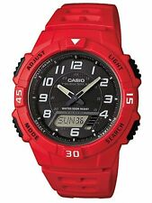 Casio tough solar RED & BLACK watch anadigital g shock ILLUMINATOR montre reloj