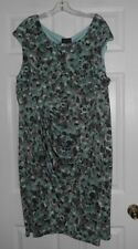 Connected Apparel Ladies size 24W sleeveless floral print dress NWOT