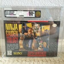 Ninja Gaiden Trilogy NEW & Factory Sealed VGA 90+ for Super Nintendo SNES!