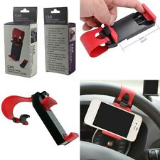 Car Steering wheel phone Universal Mount Holder Stand for Cell Phone GPS