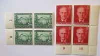 Deutsches Reich 855-856 Rosegger Viererblocksatz postfrisch (63162)