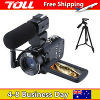HD 1080P 24MP 16X Digital Zoom Video Camcorder Camera DV+Microphone +Tripod TOLL
