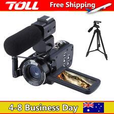 HD 1080P 24MP 16X Digital Zoom Video Camcorder Camera DV+Microphone +Tripod TOLL
