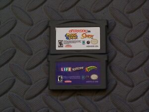 Lot Nintendo Game Boy Advance GBA Games Mouse Trap Operation Simon LIfe Yahtzee+