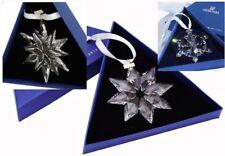 2011~2012~2013 Swarovski~Snowflake STAR Annual Christmas ORNAMENT~set/3~BNIB~COA