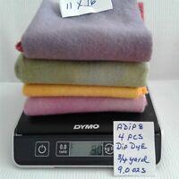 ADIP8 DIP DYE 4 PCS 9.0 OZS DORR 100 % WOOL aprx 3/4 YARD - RUG HOOKING APPLIQUE