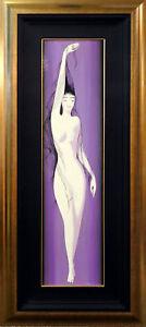 """Eyvind Earle """"Black Silken Hair"""" Hand Signed Original oil on panel MAKE an OFFER"""