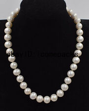freshwater pearl white near round  11-12mm necklace 17inch  wholesale nature