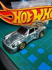 🔴HOT WHEELS  Custom Porsche 934.5 ZAMAC With Real Riders