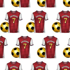 PERSONALISED FOOTBALL RED NAME HAPPY BIRTHDAY GIFT WRAPPING PAPER ADULTS KIDS
