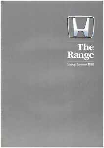 Honda 1988 UK Range Brochure Prelude CRX Civic Legend Ballade Integra Aerodeck