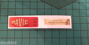 VINTAGE MAVIC SSC Rim decals, 'Red' version- perfect for renovations