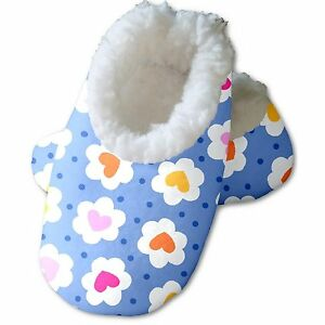 Snoozies Baby's Fleece Lined Footies, Daisy Hearts Small (0-3m)