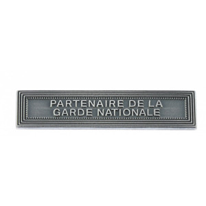 Agrafe PARTENAIRE DE LA GARDE NATIONALE Médaille RESERVISTES SECURITE INTERIEURE