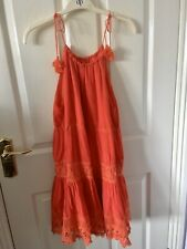Urban Outfitters Red Dress Size M Beach Holiday Kimichi Blue