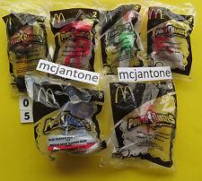 MIP SET 6 McDonald's 2005 POWER RANGERS Morphin Toy POG LAUNCHER MMPR Complete