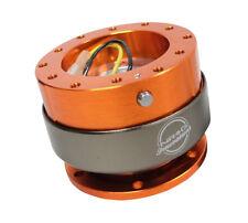 NRG Racing Steering Wheel Quick Release Gen 2 Kit Orange Body w/ Titanium Ring
