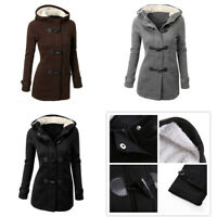 Women Trench Parka Hooded Coat Jacket Outwear Winter Warm Long Hoodies Overcoat