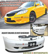 A Style Front Lip (Urethane) Fits 04-05 Civic 2/4dr
