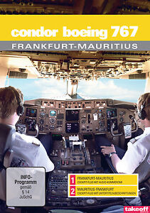 Condor Boeing 767 Frankfurt-Mauritius - Cockpit-Flüge - DVD - NEU - Take-off TV