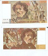 Gertbrolen 100 FRANCS EUGENE  DELACROIX de 1984   D.75 Billet N° 1853726994
