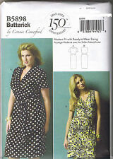 Womens Wrap Dress Connie Crawford Butterick Sewing Pattern XXL 1X 2X 3X 4X 5X 6X