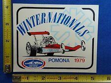 1979 Winter Nationals Event Decal Sticker ~ Pomona, CA ~ NHRA Drag Racing