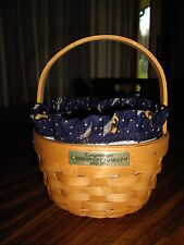 LONGABERGER DISCOVERY BASKET WITH LINER--QUINCENTENNIAL  CELEBRATION--1492-1992