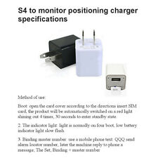 Wall Charger GPS Tracker GSM SIM Card Spy Ear Bug Voice Audio Listening Device