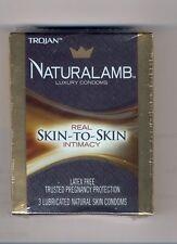 TROJAN NaturaLamb Luxury Condoms 7 packs Latex Free Real Skin To Skin Intimacy