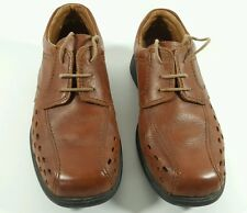 Rohde mens brown leather perforated casual shoes UK 6