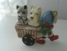 Scottie Scotty Dog Terrier ~Vintage~ Mij Salt & Pepp cart figure