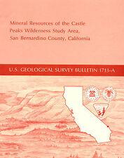 Near Nipton, Calif, UNTAPPED GOLD DEPOSITS, Castle Peaks, RARE 1st ed, maps, VG+